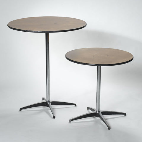 "Cocktail Table 30"" Round, 42"" High - Highboy Pedistal"