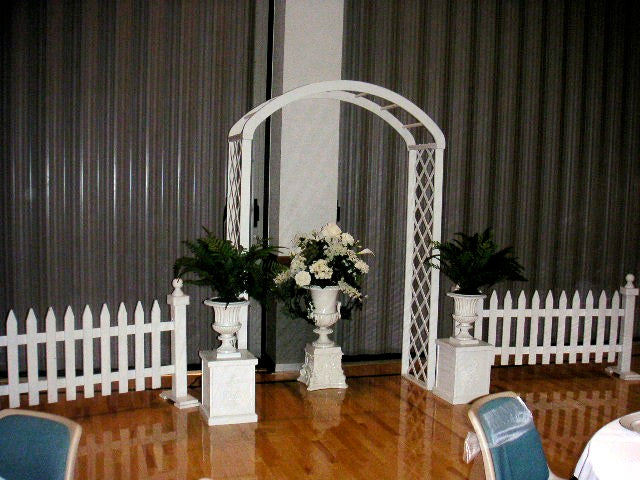 Rent Wedding Arch - Classic White Trellis Arch Rental | Chair, Table ...
