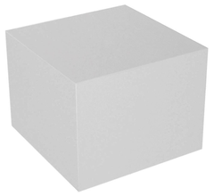 Display Cube, White - 20in x 20in x 20in (FF) - PEOPLE SAFE