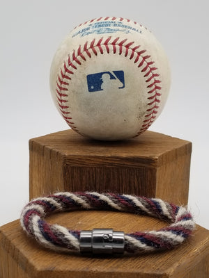 Pro Game-Used Baseball Hand-Braided Rope Bracelets