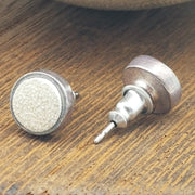 Game-Used Baseball Leather Stud Earrings - Silver or gold plated - Choose your team
