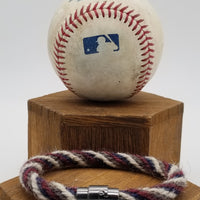 Build Your Own Game-Used Baseball Rope Bracelet. Hand-Dyed and Braided Yarn Baseball Windings - NYM@CHC 8.28.18 - Rizzo base hit off of deGrom