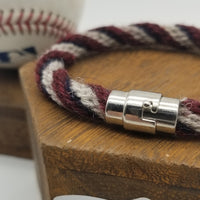 "8.25"" Rope Bracelet made from Yarn Baseball Windings - MIN@BOS 7/27/18 - Fenway  Park"