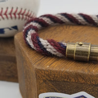 "9"" Rope Bracelet made from Yarn Baseball Windings - MIN@BOS 7/27/18 - Fenway  Park"