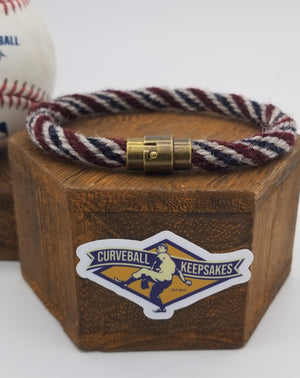 "9.25"" Rope Bracelet made from Yarn Baseball Windings - MIN@BOS 7/27/18 - Fenway  Park"