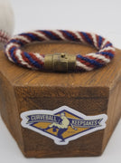 "8.5"" Rope Bracelet made from Yarn Baseball Windings - MIA@NYM - B. Colon Career Win #207"