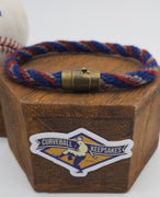 "8.5"" or 9.75"" Rope Bracelet made from Yarn Baseball Windings - MIA@NYM - B. Colon Career Win #207"