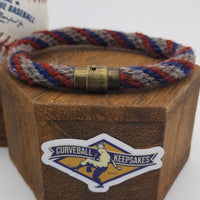 "9"" or 9.75"" Rope Bracelet made from Yarn Baseball Windings - MIA@NYM - B. Colon Career Win #207"