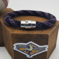 "9.25"" Rope Bracelet made from Yarn Baseball Windings - SD@COL - 2005 Opening Day"