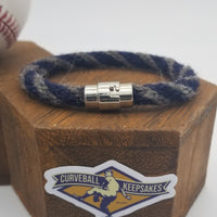 "8.25"" or 8.5"" Rope Bracelet made from Yarn Baseball Windings - BOS@NYY - C. Sale pitches to B. Gardner"