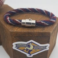 "8.25"" Rope Bracelet made from Yarn Baseball Windings - ATL@WAS - M. Scherzer to O. Albies"