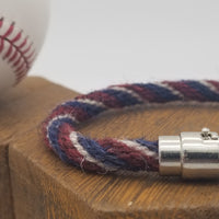 "8.5"" Rope Bracelet made from Yarn Baseball Windings - ATL@WAS - M. Scherzer to O. Albies"