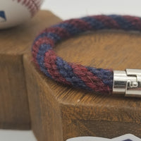 "9.5"" Rope Bracelet made from Yarn Baseball Windings - ATL@WAS - M. Scherzer to O. Albies"