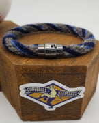 "9"" Rope Bracelet made from Yarn Baseball Windings - MIN@TB - M. Smith Career Base Hit #133"