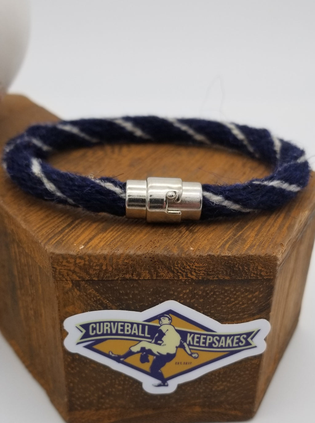 "8.75"" Rope Bracelet made from Yarn Baseball Windings - BOS@NYY - C. Sale pitches to B. Gardner"