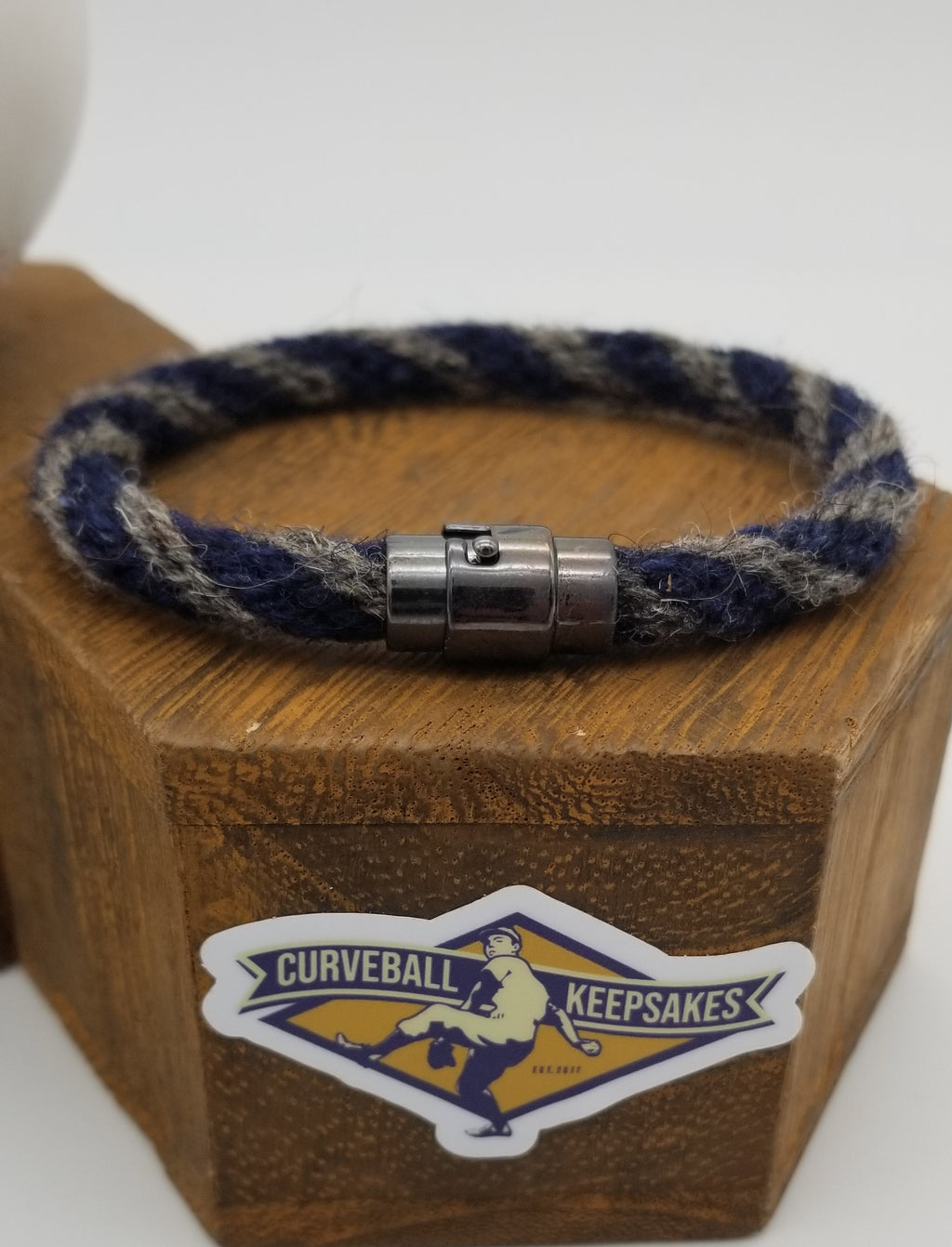 "8.5"" or 9.5"" Rope Bracelet made from Yarn Baseball Windings - BOS@NYY - C. Sale pitches to B. Gardner"