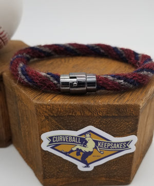 "9.5"" Rope Bracelet made from Yarn Baseball Windings - TEX@LAA - Mike Trout"