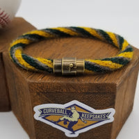 "7.5"" or 9"" Rope Bracelet made from Yarn Baseball Windings - NYY@OAK 6/18/17 - Father's Day Game / A. Judge"