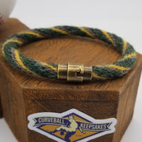 "8.5"", 9"" or 9.5"" Rope Bracelet made from Yarn Baseball Windings - CLE@OAK 7/16/17 - Oakland 7-3 Win"