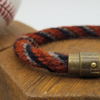 "8"" or 9.5"" Rope Bracelet made from Yarn Baseball Windings - AZ@SF 4/9/18 - A. McCutchen Base Hit. Also Posey & Longoria"