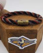 "9"" or 9.25"" Rope Bracelet made from Yarn Baseball Windings - AZ@SF 4/9/18 - A. McCutchen Base Hit. Also Posey & Longoria"