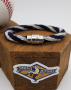 "8"" Rope Bracelet made from Yarn Baseball Windings - SEA@MIN - A. Reed to Ichiro Suzuki"