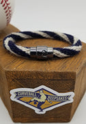 "7.5"" Rope Bracelet made from Yarn Baseball Windings - SEA@MIN - A. Reed to Ichiro Suzuki"