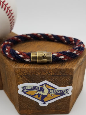 "8.5"" or 9.5"" Rope Bracelet made from Yarn Baseball Windings - CLE@DET - M. Boyd to F. Lindor"