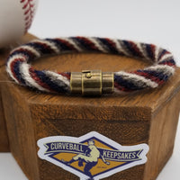 "9.25"" or 9.5"" Rope Bracelet made from Yarn Baseball Windings - CLE@DET - M. Boyd to F. Lindor"