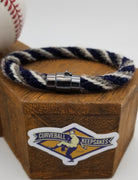 "8.75"" Rope Bracelet made from Yarn Baseball Windings - SEA@MIN - A. Reed to Ichiro Suzuki"