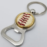 Game-Used Baseball Stainless Steel Bottle Opener Keychain - OAK@SEA 9.26.19 - F. Hernandez Last Start in SEA - Seager Base Hit