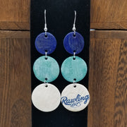 Hand-Dyed Baseball Leather Earrings - TB @ SEA 6/2/18 - D. Gordon Career Base Hit #886