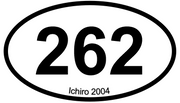 Baseball by the Numbers Vinyl Baseball Sticker - 262 - Ichiro Suzuki