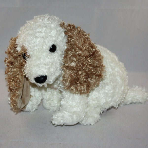 2002 Ty Classic Quot Beasley Quot The Puppy Dog Brown White Curly