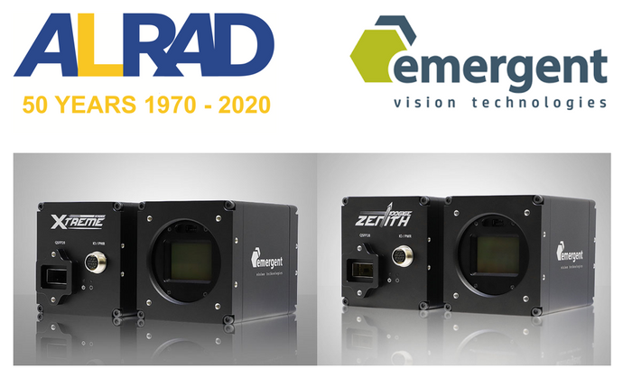 ALRAD Instruments appointed as Distribution Partner for Emergent Vision Technologies in UK and Ireland