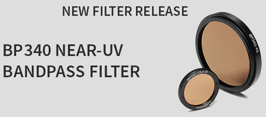 Midwest Optical Systems - New Filter Release - BP340 Near-UV Bandpass Filter