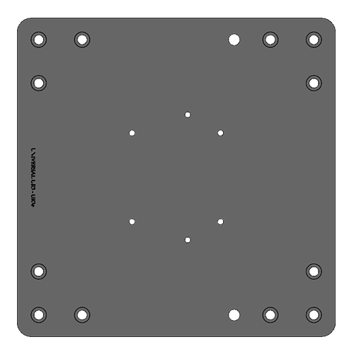 RB-MP-UR3E Robot Mounting Plate - Alrad