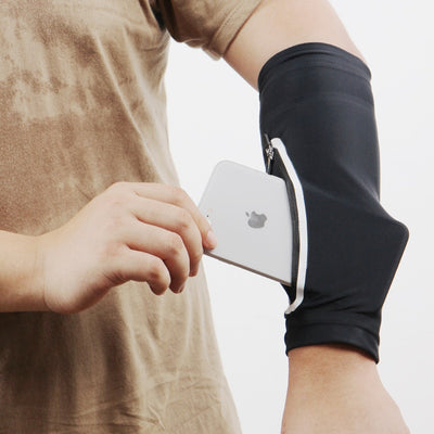 PUOU 2020 Cycling Running Bicycle UV Sun Protection Cuff Cover Protective Arm Sleeve Sports Arm guards Running Sports Phone Case