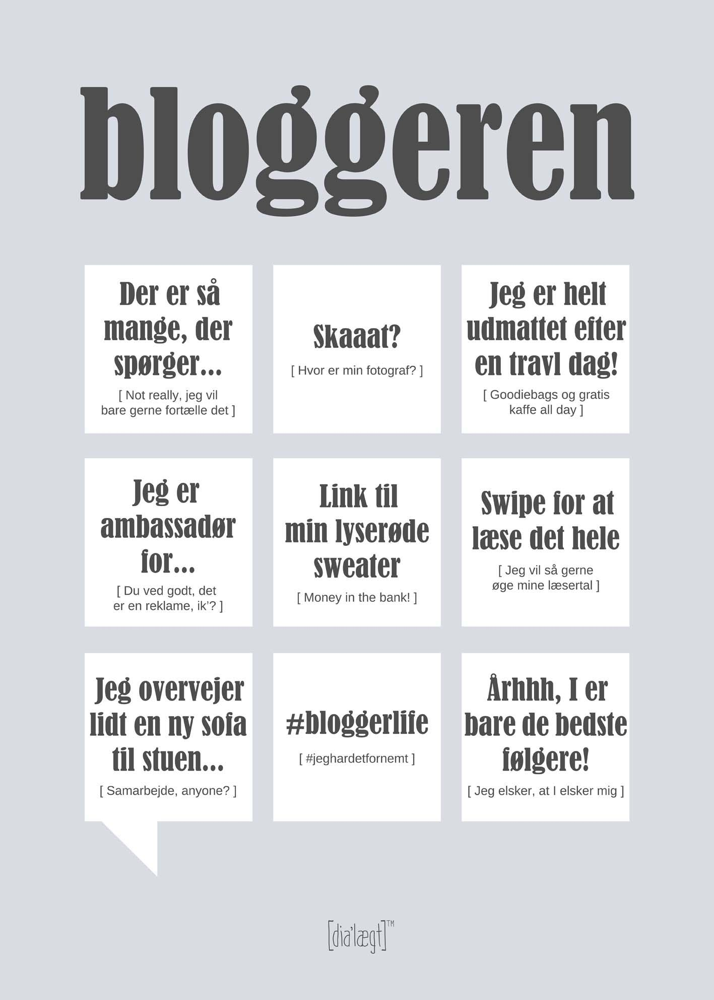 Image of   Bloggeren plakat