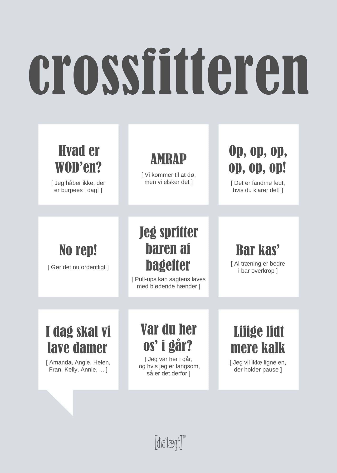 Image of   Crossfitteren plakat
