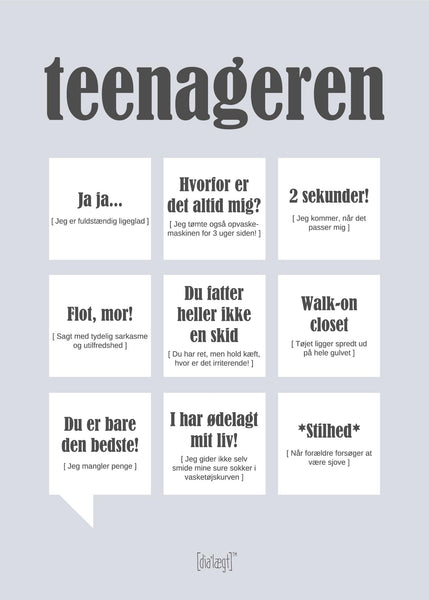 Teenageren Plakat Plakat