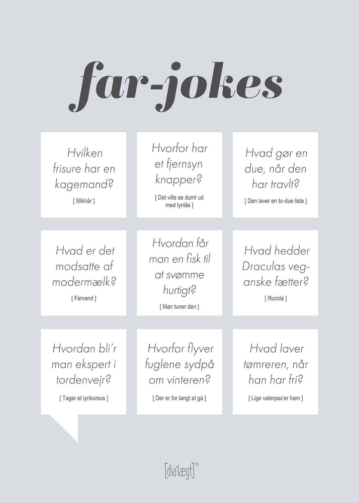 Far Jokes plakat Plakat