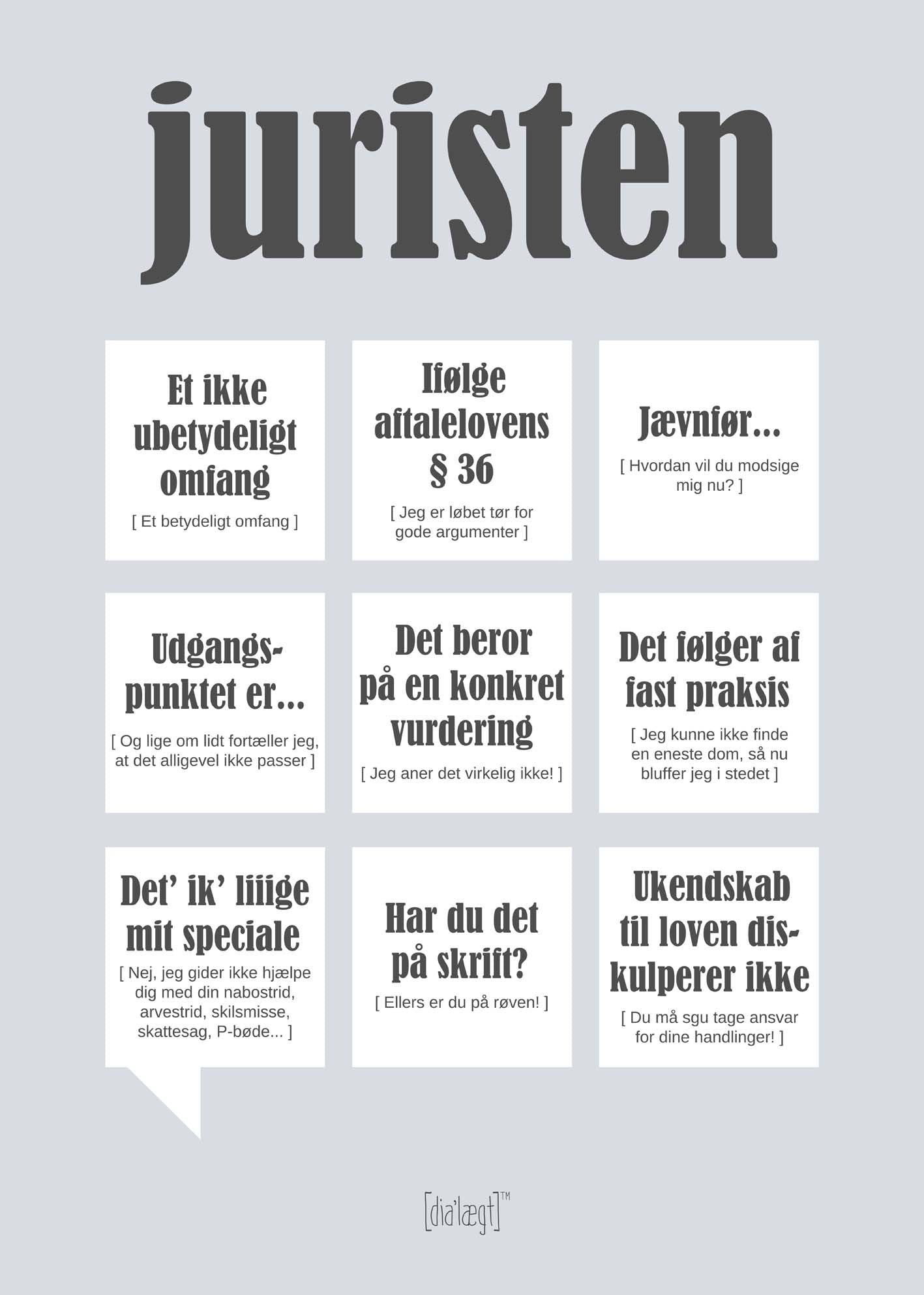 Image of   Juristen plakat