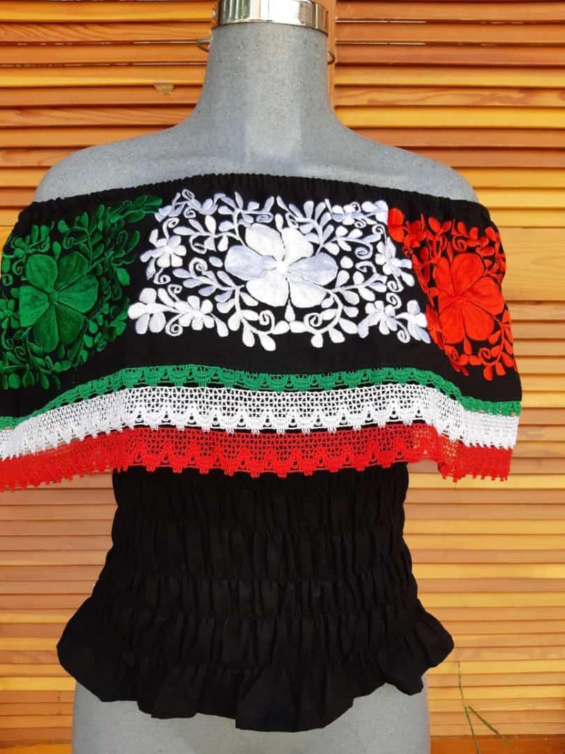 Tricolor Campesina Top