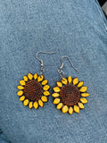 Girasol Leather Earrings