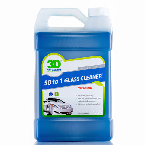 3D 50 to 1 Glass Cleaner - 1 Gallon