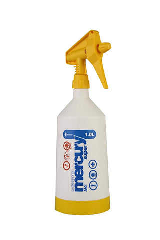 Kwazar Mercury Pro+ 1.0 Litre Double Action Trigger Sprayer - Yellow