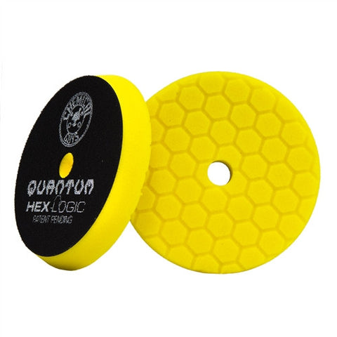 "Chemical Guys 5.5"" Hex Logic Quantum Yellow Heavy Cutting Pad"