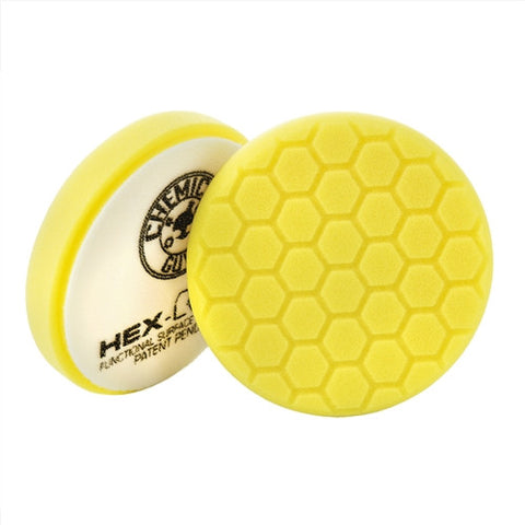"Chemical Guys 5.5"" Hex Logic Yellow Heavy Cutting Pad"