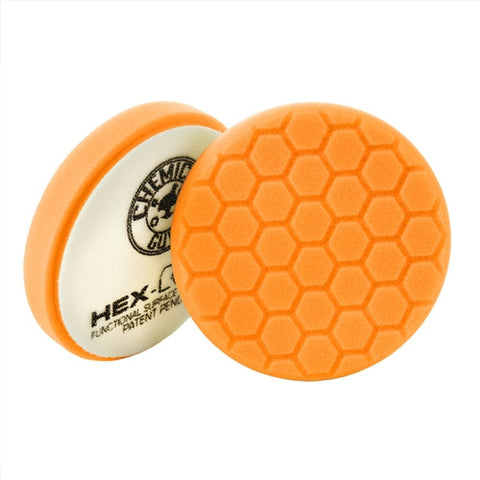 "Chemical Guys 4"" Hex Logic Orange Medium-Heavy Cutting Pad"